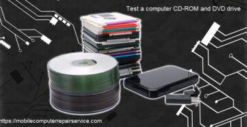 test a computer CD-ROM and DVD drive